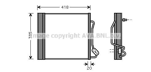 Condenseur / Radiateur de climatisation AVA QUALITY COOLING MC5010 (X1)