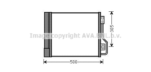Condenseur / Radiateur de climatisation AVA QUALITY COOLING MC5013D (X1)