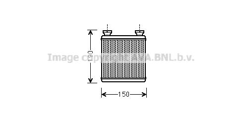 Radiateur de chauffage AVA QUALITY COOLING MC6014 (X1)