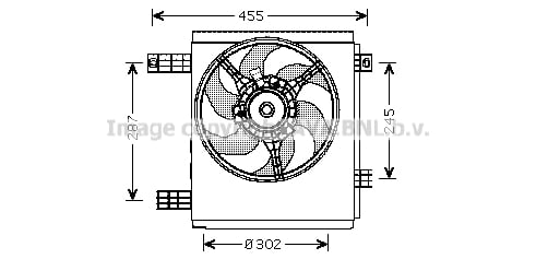 Ventilateur de radiateur AVA QUALITY COOLING MC7501 (X1)