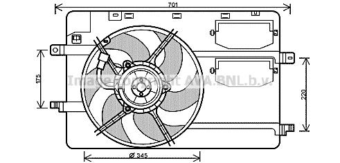 Ventilateur de radiateur AVA QUALITY COOLING MC7506 (X1)