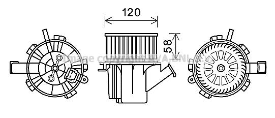 Moteur de ventilateur de chauffage AVA QUALITY COOLING MC8018 (X1)