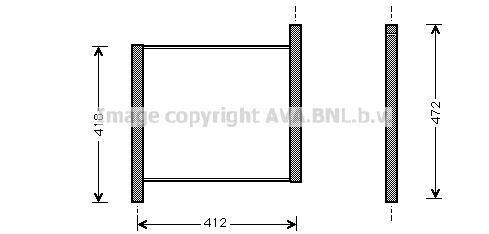 Radiateur de refroidissement AVA QUALITY COOLING MCA2002 (X1)