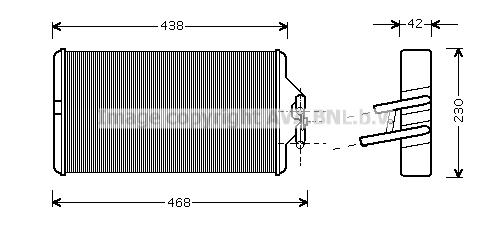 Radiateur de chauffage AVA QUALITY COOLING ME6187 (X1)