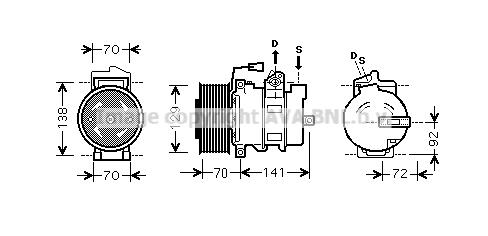 Compresseur AVA QUALITY COOLING MEK250 (X1)