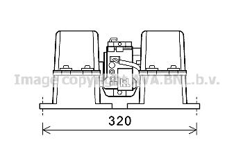 Moteur de ventilateur de chauffage AVA QUALITY COOLING MN8086 (X1)