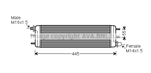Radiateur huile AVA QUALITY COOLING MS3532 (X1)