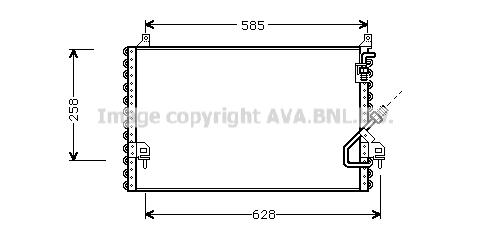 Condenseur / Radiateur de climatisation AVA QUALITY COOLING MS5196 (X1)