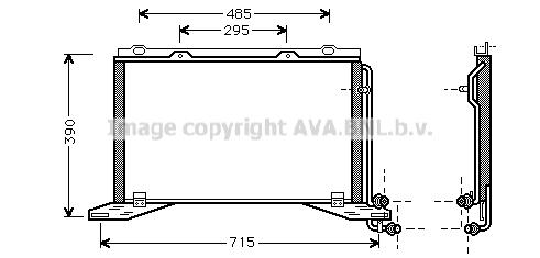 Condenseur / Radiateur de climatisation AVA QUALITY COOLING MS5222 (X1)