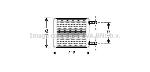Radiateur de chauffage AVA QUALITY COOLING MS6442 (X1)