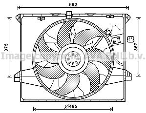 Ventilateur, refroidissement du moteur AVA QUALITY COOLING MS7671 (X1)