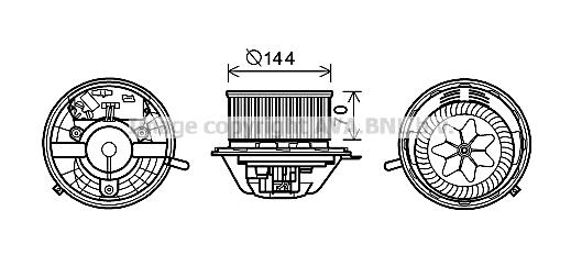 Moteur de ventilateur de chauffage AVA QUALITY COOLING MS8608 (X1)