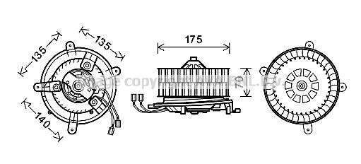 Moteur de ventilateur de chauffage AVA QUALITY COOLING MS8610 (X1)