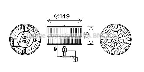 Moteur de ventilateur de chauffage AVA QUALITY COOLING MS8619 (X1)