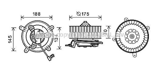 Moteur de ventilateur de chauffage AVA QUALITY COOLING MS8621 (X1)