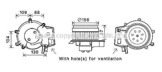 Moteur de ventilateur de chauffage AVA QUALITY COOLING MS8625 (X1)