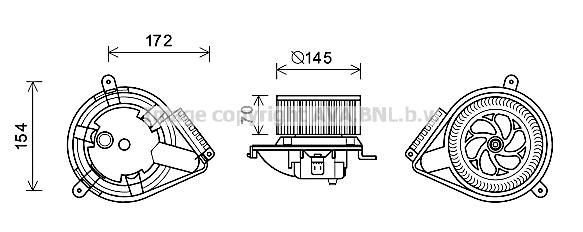 Moteur de ventilateur de chauffage AVA QUALITY COOLING MS8626 (X1)