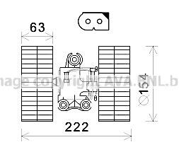 Moteur de ventilateur de chauffage AVA QUALITY COOLING MS8632 (X1)