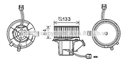Moteur de ventilateur de chauffage AVA QUALITY COOLING MS8640 (X1)