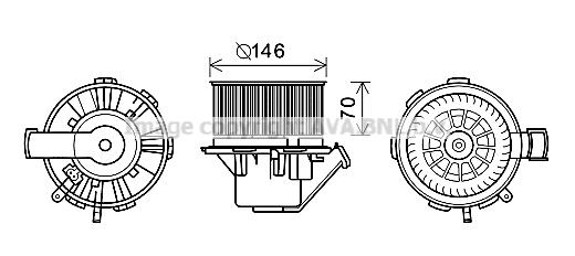 Moteur de ventilateur de chauffage AVA QUALITY COOLING MS8648 (X1)