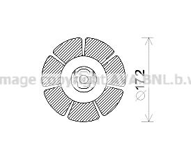 Moteur de ventilateur de chauffage AVA QUALITY COOLING MS8662 (X1)