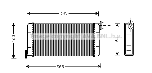 Radiateur de chauffage AVA QUALITY COOLING MSA6109 (X1)