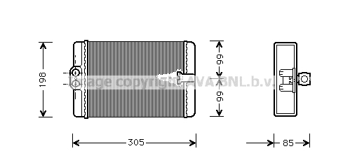 Radiateur de chauffage AVA QUALITY COOLING MSA6250 (X1)