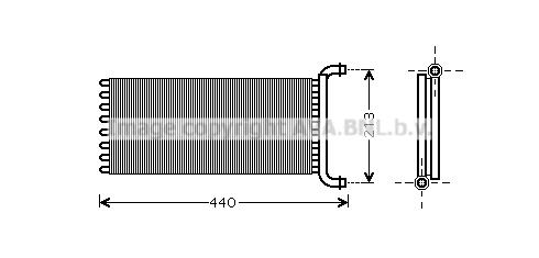 Radiateur de chauffage AVA QUALITY COOLING MSA6399 (X1)