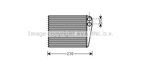 Radiateur de chauffage AVA QUALITY COOLING MSA6465 (X1)