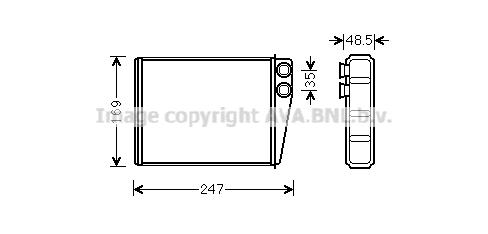 Système de chauffage AVA QUALITY COOLING MSA6673 (X1)