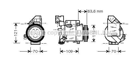 Compresseur AVA QUALITY COOLING MSAK075 (X1)