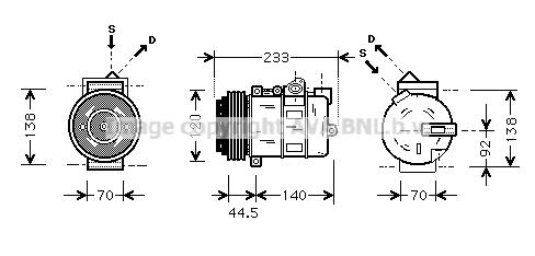 Compresseur AVA QUALITY COOLING MSAK277 (X1)