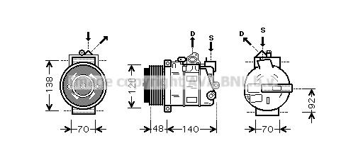 Compresseur AVA QUALITY COOLING MSAK393 (X1)