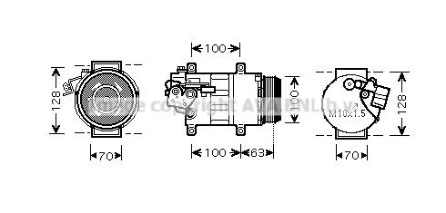 Compresseur AVA QUALITY COOLING MSAK404 (X1)