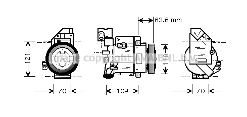 Compresseur AVA QUALITY COOLING MSAK425 (X1)