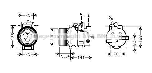 Compresseur AVA QUALITY COOLING MSAK431 (X1)