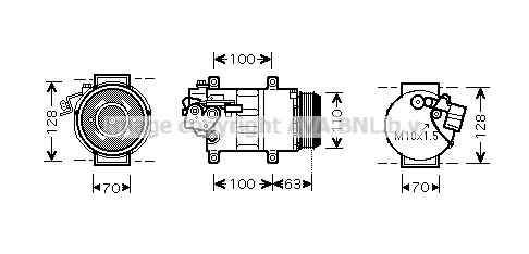 Compresseur AVA QUALITY COOLING MSAK434 (X1)