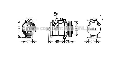 Compresseur AVA QUALITY COOLING MSAK494 (X1)