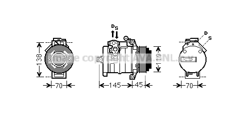 Compresseur AVA QUALITY COOLING MSAK530 (X1)