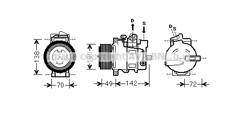 Compresseur AVA QUALITY COOLING MSAK566 (X1)