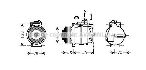 Compresseur AVA QUALITY COOLING MSAK568 (X1)