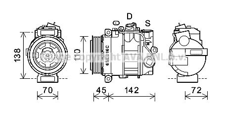 Compresseur AVA QUALITY COOLING MSAK614 (X1)