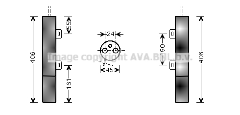Bouteille deshydratante AVA QUALITY COOLING MSD090 (X1)