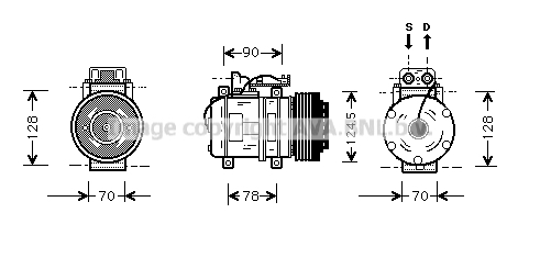 Compresseur AVA QUALITY COOLING MSK052 (X1)