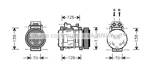 Compresseur AVA QUALITY COOLING MSK054 (X1)