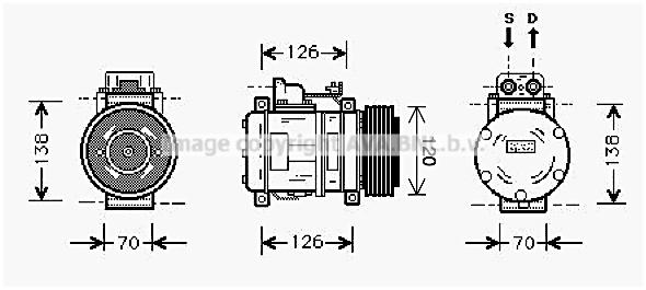 Compresseur AVA QUALITY COOLING MSK057 (X1)