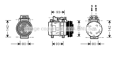 Compresseur AVA QUALITY COOLING MSK083 (X1)