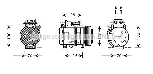 Compresseur AVA QUALITY COOLING MSK084 (X1)
