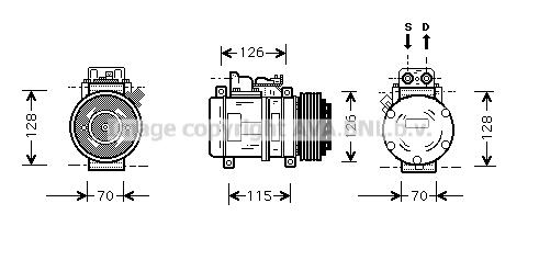 Compresseur AVA QUALITY COOLING MSK087 (X1)