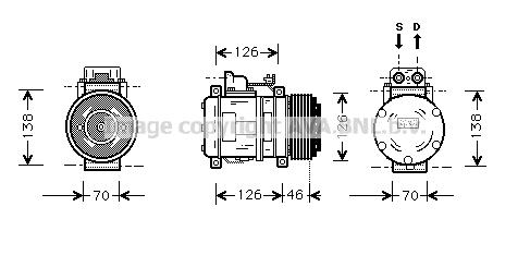 Compresseur AVA QUALITY COOLING MSK097 (X1)